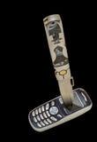 2把刀子电话 库存图片