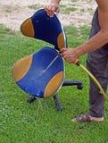 2把椅子办公室洗涤物 库存照片