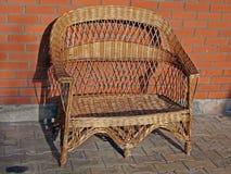 2把椅子柳条 库存图片