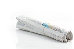 2报纸卷起了 免版税图库摄影