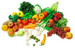 2排列果菜类 库存图片