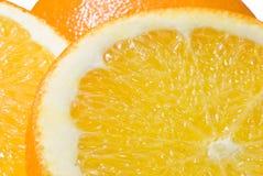 2接近的桔子 免版税图库摄影