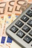 2接近的欧元 免版税库存照片