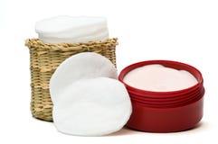2擦净剂表面润肤霜 免版税库存图片