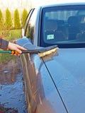 2支画笔汽车洗涤物 免版税库存照片