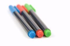 2支色的记号笔 免版税图库摄影
