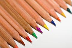 2支颜色铅笔 免版税库存照片