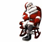 2放松的圣诞老人 库存例证
