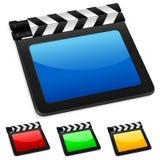 2数字式影片板岩 免版税库存照片