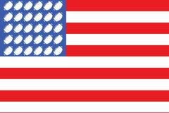 2旗标橄榄球美国 库存照片