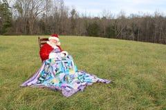 2晃动的圣诞老人休眠 库存照片