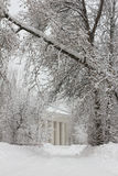 2月暴风雪在庄园Pehra Yakovleskoe里 免版税图库摄影