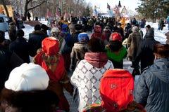 2月14日奔萨俄国 免版税库存图片