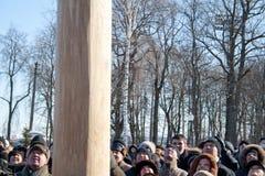 2月14日奔萨俄国 库存图片