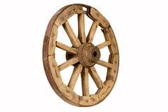 2木古色古香的轮子 免版税库存图片