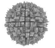 2未来派的城市 免版税库存图片