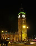 2本大伦敦晚上视图 库存图片