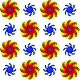 2朵无缝花几何的模式 免版税库存照片