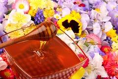 2朵花蜂蜜甜点 图库摄影