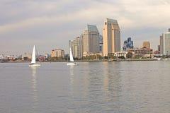 2条加利福尼亚地亚哥风船圣二 库存照片