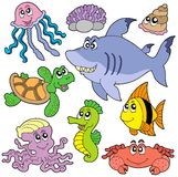 2条动物收集鱼海运 向量例证