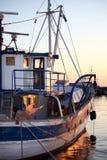 2条小船捕鱼 图库摄影