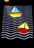 2条小船 免版税库存照片