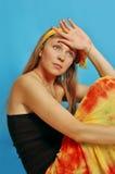 2条布裙妇女 免版税库存图片