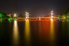 2条桥梁四桂林湖lizhe河浏览 库存图片