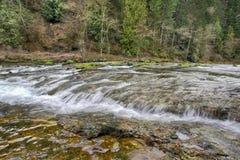 2条河washougal瀑布 库存图片