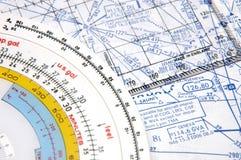 2条空中航线定位 免版税库存照片
