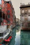 2条运河威尼斯 免版税库存照片