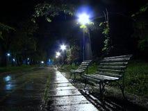 2条长凳雨 库存图片