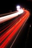 2条高速公路晚上 免版税库存图片
