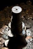 2枚硬币摩天大楼 库存图片