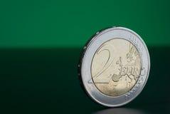 2枚硬币欧元 免版税图库摄影