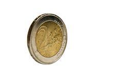 2枚硬币欧元 免版税库存照片