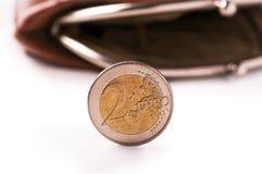 2枚硬币欧元 免版税库存图片
