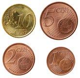 2枚硬币欧洲充分的零件集 免版税库存照片