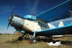 2架双翼飞机老苏联运输 库存图片