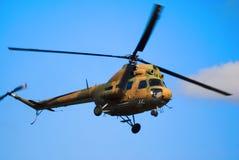 2架直升机mi俄语 免版税库存照片