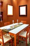 2棕色用餐 库存照片