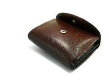 2棕色钱包 免版税库存图片