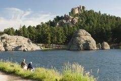 2森林的湖 库存图片