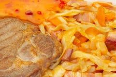 2棵圆白菜肉 免版税库存图片