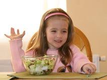 2棵女孩蔬菜 库存照片