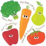2棵果子混合的集合蔬菜 免版税库存图片