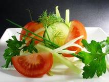 2棵沙拉蔬菜 免版税库存图片