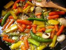 2棵油煎的蔬菜 免版税库存照片