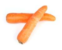2棵红萝卜 库存照片